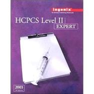Hcpcs 2003 Level II Expert: Level II : Expert