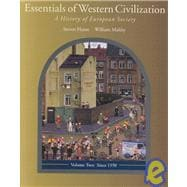 Essentials of Western Civilization : A History of European Society, since 1550