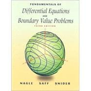PACKAGE: Fundamentals of Differential Equations & Boundary Value Problems (With CD)
