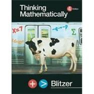THINKING MATHEMATICALLY &MY MATHLAB&STCKR PKG, 4/e