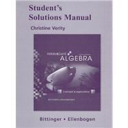Student's Solutions Manual for Intermediate Algebra : Concepts and Applications