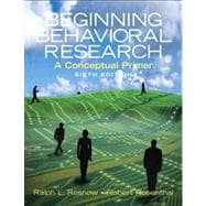Beginning Behavioral Research : A Conceptual Primer