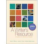 A Writer's Resource (spiral-bound) 2009 APA &amp; MLA Update, Student Edition