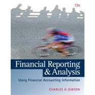 Financial Reporting and Analysis (with ThomsonONE Printed Access Card)
