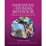 Dimensions of Human Behavior : Person and Environment