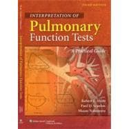 Interpretation of Pulmonary Function Tests A Practical Guide