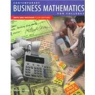 Contemporary Business Mathematics for Colleges, Brief Course
