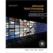 Advanced Word Processing, Lessons 56-110: Microsoft� Word