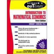 Schaum�s Outline of Introduction to Mathematical Economics