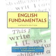 English Fundamentals (with NEW MyWritingLab with Pearson EText Student Access Code Card)