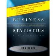 Business Statistics: Contemporary Decision Making, 6th Edition