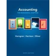 Accounting, Chapters 14-24 (Managerial chapters)