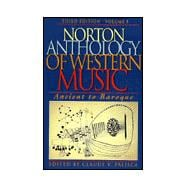 Norton Anthology of Western Music Vol. I : Ancient to Baroque