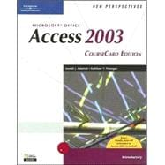 New Perspectives on Microsoft Office Access 2003 : CourseCard Edition, Introductory