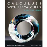 Student Solutions Manual for Larson/Hostetler/Edwards' Calculus I with Precalculus, 3rd