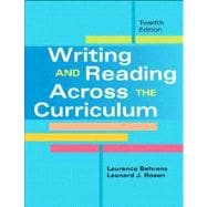 Writing and Reading Across the Curriculum with NEW MyCompLab -- Access Card Package