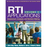 RTI Applications, Volume 2 Assessment, Analysis, and Decision Making