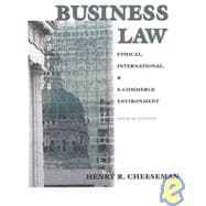 Business Law: The Legal Ethical and International E-Commerce Environment