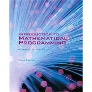 Introduction to Mathematical Programming - Third Edition