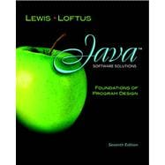 Java Software Solutions Foundations of Program Design