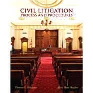 Civil Litigation Process and Procedures Plus NEW MyLegalStudiesLab and Virtual Law Office Experience with Pearson eText -- Access Card Package