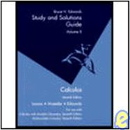 Student Solutions Guide, Volume 2 for Larson's Calculus, 7th