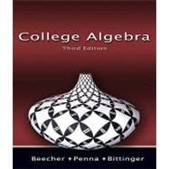 COLLEGE ALGEBRA WITH MYMATHLAB SAK, 3rd/e