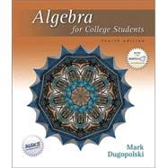 Algebra for College Students W/ Mathzone