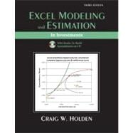 Excel Modeling and Estimation in Investments and Student CD Package