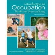 Introduction to Occupation The Art of Science and Living