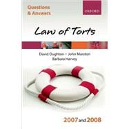 Q and A: Law of Torts 2007-2008