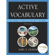 Active Vocabulary : General and Academic Words