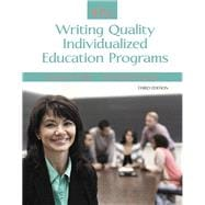 IEPs Writing Quality Individualized Education Programs