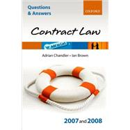 Q and A: Law of Contract 2007 - 2008