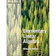 Elementary Linear Algebra, 9th Edition