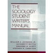 The Sociology Student Writer's Manual