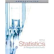 STATISTICS MANAGEMENT & ECONOMICS, 10th Edition