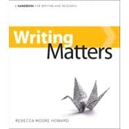 Writing Matters - A Handbook for Writing and Research