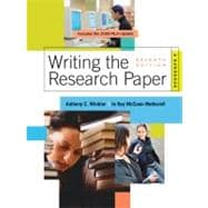 Writing the Research Paper A Handbook, 2009 MLA Update Edition