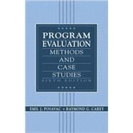 Program Evaluation : Methods and Case Studies