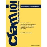 Studyguide for an Applied Course in Real Options Valuation by Richard L Shockley, Isbn 9780324259636