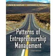 Patterns of Entrepreneurship Management, 3rd Edition