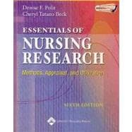 Essentials of Nursing Research Methods, Appraisal, and Utilization