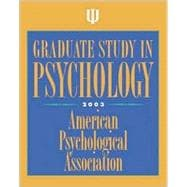 Graduate Study in Psychology, 2003