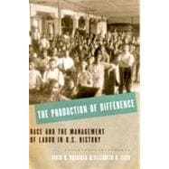 The Production of Difference Race and the Management of Labor in U.S. History