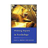 Writing Papers in Psychology A Student Guide