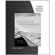 Student Solutions Manual for Peck/Devore�s Statistics: The Exploration & Analysis of Data, 7th