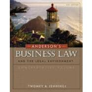 Study Guide for Twomey/Jennings� Anderson�s Business Law Comprehensive and Standard versions, 21st Edition