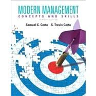 Modern Management Concepts and Skills