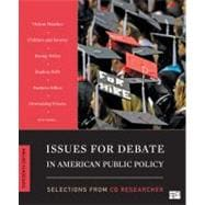 Issues for Debate in American Public Policy, Selections